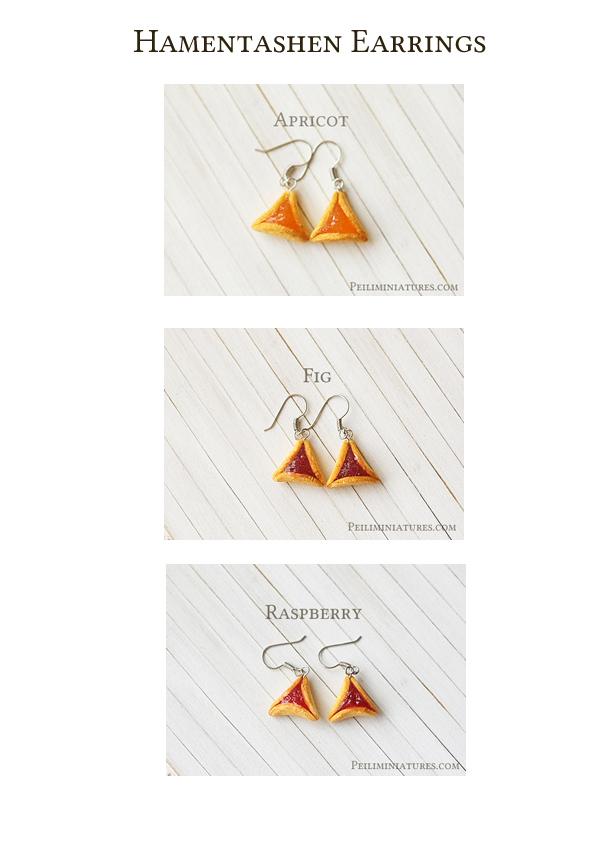Hamantaschen earrings