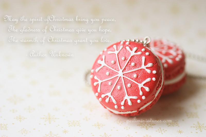 Faux Macarons Christmas
