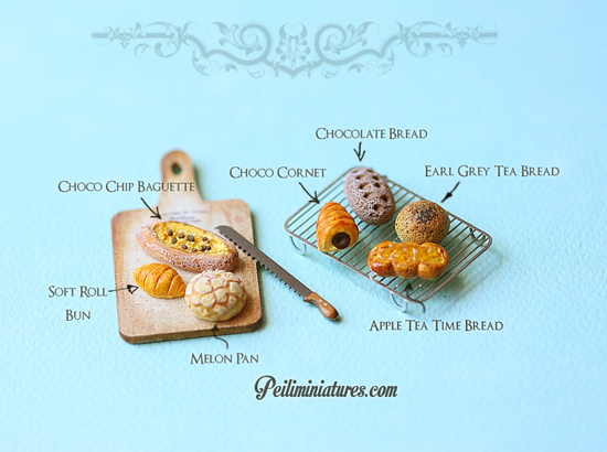Dollhouse Miniature Assorted Bread Mold