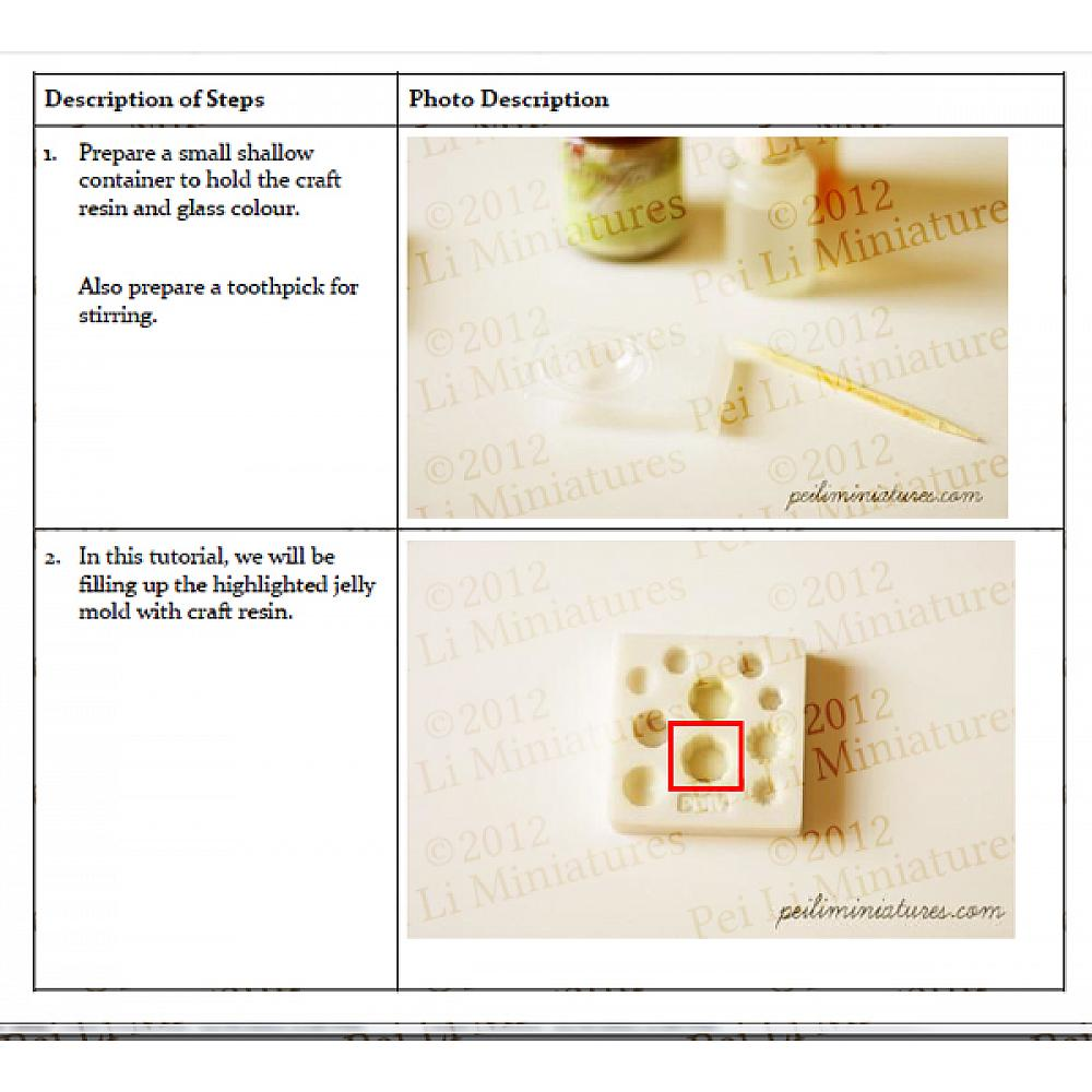 Fake Food Tutorial - The Art of Making Dollhouse Miniature