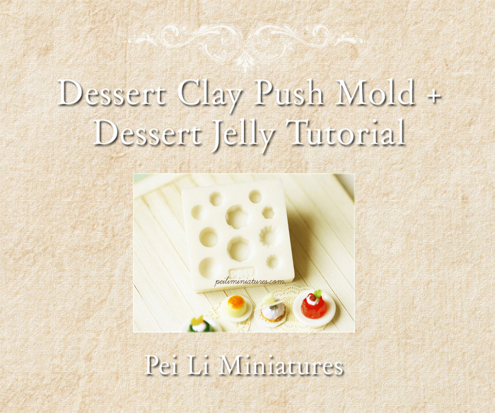 Clay Food Tutorial and Dessert Clay Food Push Mold