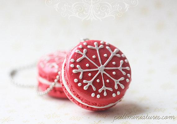 Christmas Macaron Tree Ornament - Made To Order