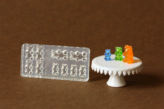 Dollhouse Miniature Gummy Bear Candy Mold