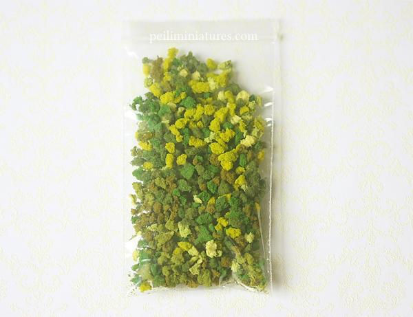 Modeling Grass for Dollhouse Miniature Flower Arrangements