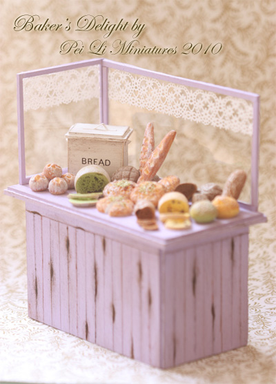 Dollhouse Miniature Food - Miniature Bakery Display-dollhouse miniature food, miniature bakery, miniature bread, miniature dollhouse food, miniature food, dollhouse food
