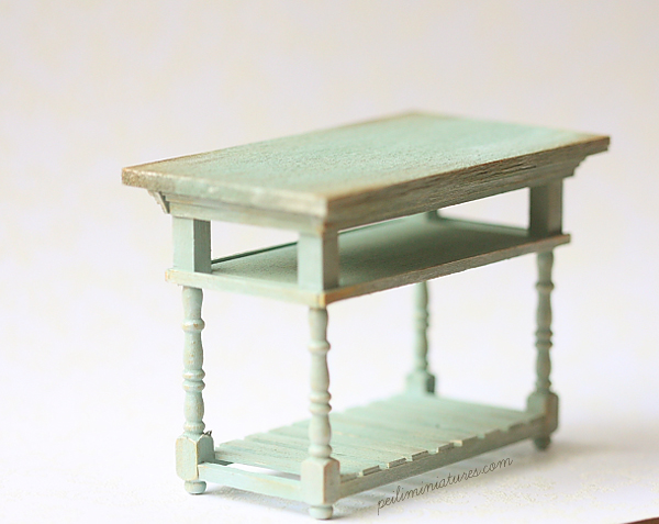 ... Dollhouse Kitchen Table - 1/12 Miniature Scale ...