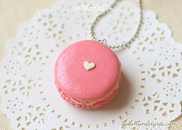 Sweetie Pink Macaron Necklace