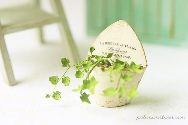 Dollhouse Paper Flower Kit - English Ivy-paper flower kit, dollhouse english ivy kit