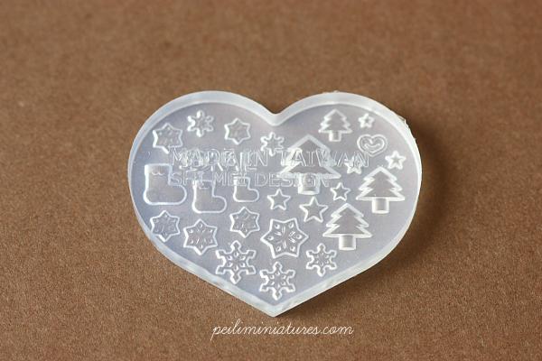 Miniature Clay Push Mold - Christmas Designs