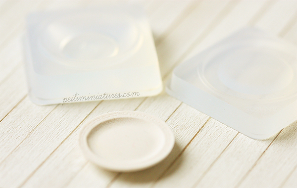 Miniature Clay Push Mold - Round Dinner Plate
