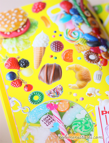 Candy Color Ticket  Clay Food Jewelry Book