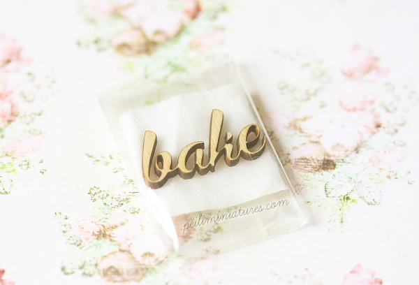 Dollhouse Miniature - Wood Letters - BAKE