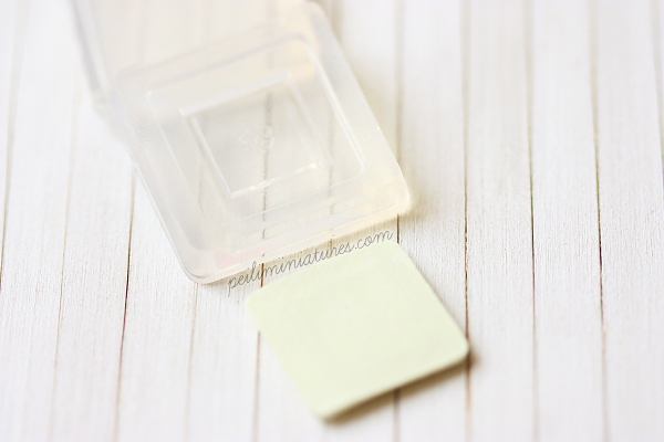 Miniature Clay Push Mold - Square Plate