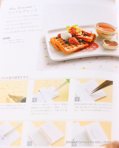 Japanese Craft Book - Create Dollhouse Miniature Food by NuNu II