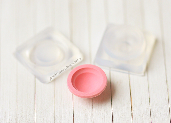 Miniature Clay Mold Push Mold for Deep Bowl - SMALL