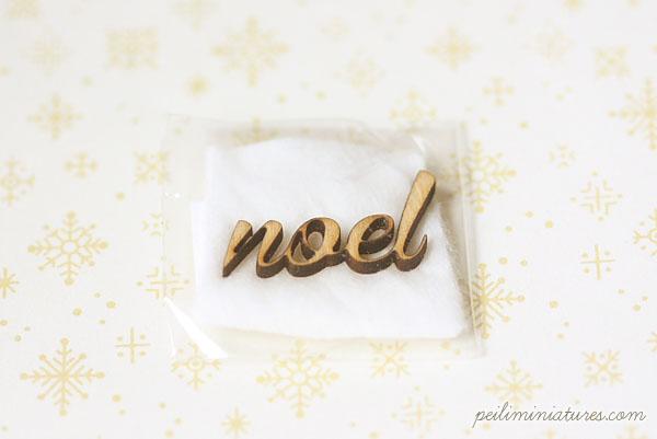 Dollhouse Miniature - Wood Letters - Free Standing Wooden Letters - NOEL