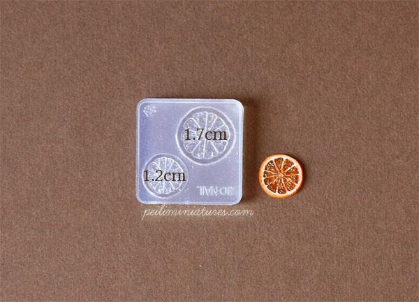 Miniature Orange Slice Mold