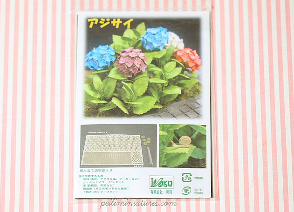 Dollhouse Paper Flower Kit - Hydrangeas-dollhouse paper flower kit, dollhouse hydrangeas kit