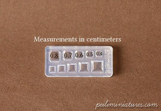 Miniature Square Gem Crystal Mold - UV Resin Mold