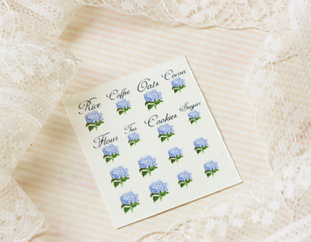 Dollhouse Miniature Decals � Kitchen Canister Labels Set 9