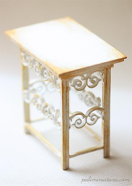 Dollhouse Miniature 1/12th Scale Kitchen Buffet Table-dollhouse miniature kitchen table