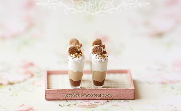 Dollhouse Miniature Desserts - Chocolate Mousse Cup Dessert
