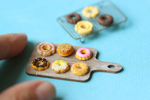 Dollhouse Miniature Donuts Mold-dollhouse miniature donuts mold