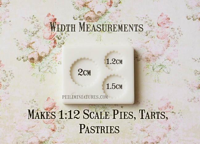 Dollhouse Miniature Tart Pie Base Mold