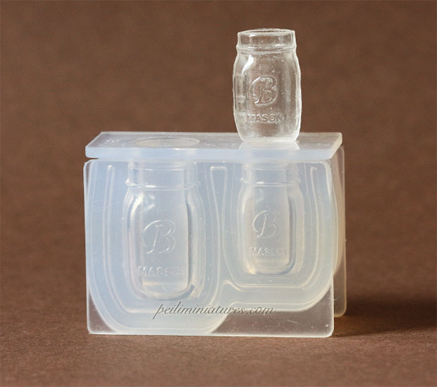 Dollhouse Miniature Mason Drinking Jar Silicone Mold