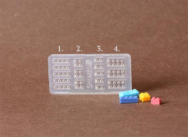 Dollhouse Miniature Lego Brick Mold