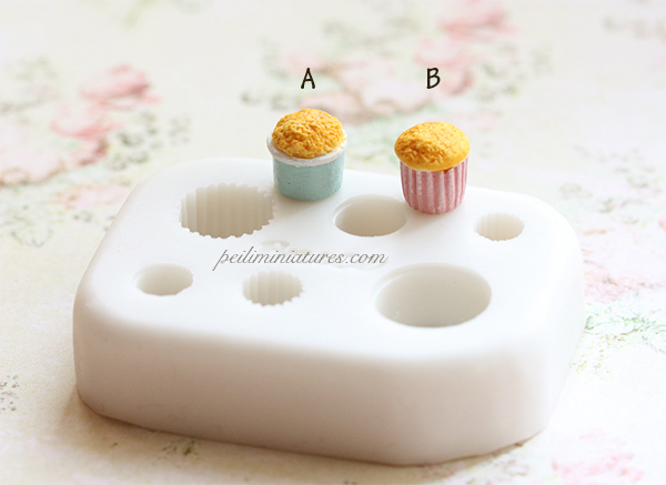Miniature Cupcake Base for 1/12 and 1/6 Scale