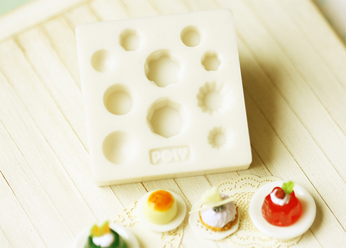 Miniature Clay Mold Push Mold for Dollhouse Miniature Cakes Pastries Cupcakes Desserts-miniature clay mold, push mold, air dry clay mold, cupcake mold