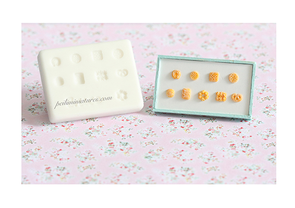 Miniature Clay Mold for Dollhouse Miniature Biscuits Danish Cookies Crackers