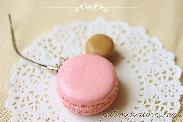 Food Jewelry - Macaron Keychain - Macaron Phone Charm - Macaron Bag Charm
