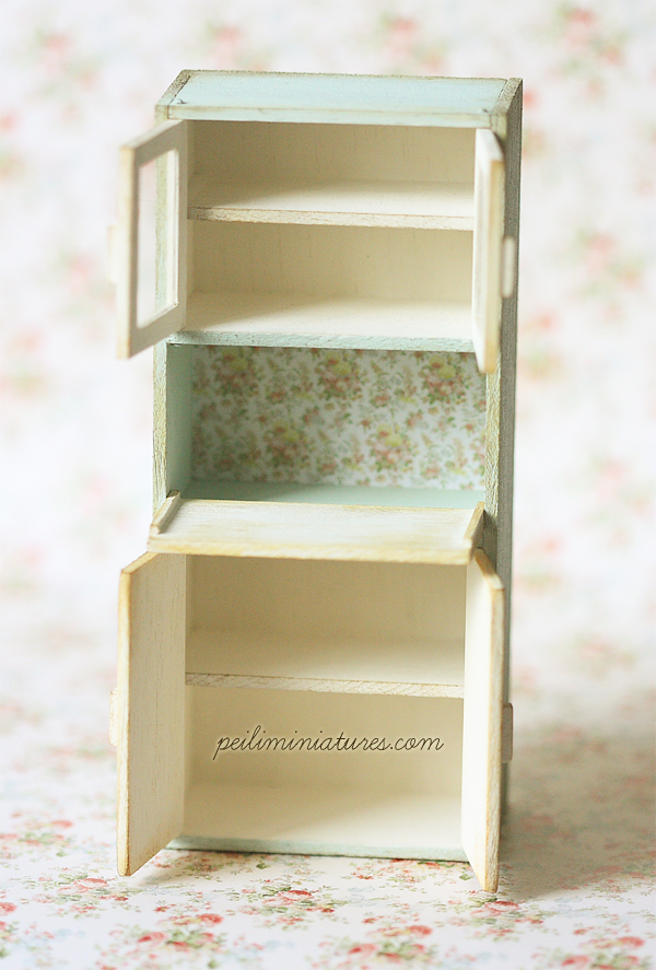 Dollhouse Furniture Kitchen - Kitchen Cabinet - 1/12 Dollhouse Miniature Scale-dollhouse