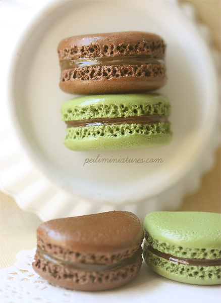 Food Magnet - Green Tea Matcha and Chocolate-food magnet, office magnets, macaron magnet
