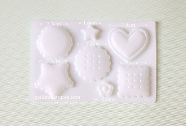 Clay Mold - Cookies and Macaron Mold