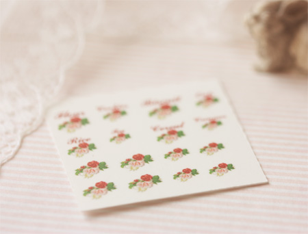 Dollhouse Miniature Decals – Kitchen Canister Labels Set 6