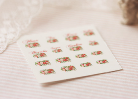 Dollhouse Miniature Decals � Kitchen Canister Labels Set 4