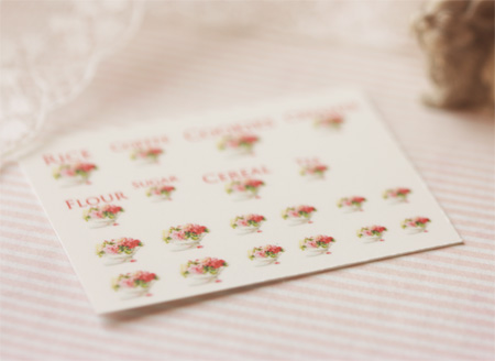 Dollhouse Miniature Decals � Kitchen Canister Labels Set 3