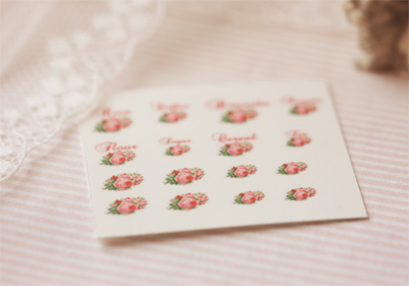 Dollhouse Miniature Decals � Kitchen Canister Labels Set 1