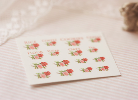 Dollhouse Miniature Decals � Kitchen Canister Labels Set 2
