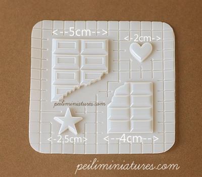 Decoden Mold - Chocolate Bar Mold - Miniature Food Mold