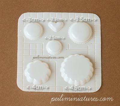 Decoden Mold - Macaron and Tart Mold