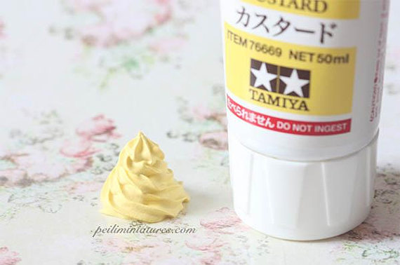 Fake Whipped Custard Cream (Matte Finish)