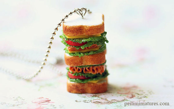 Sandwich Jewelry - Tall Sandwich Necklace