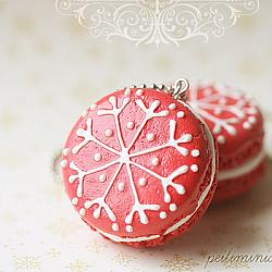 Christmas Macaron Tree Ornament - Made To Order