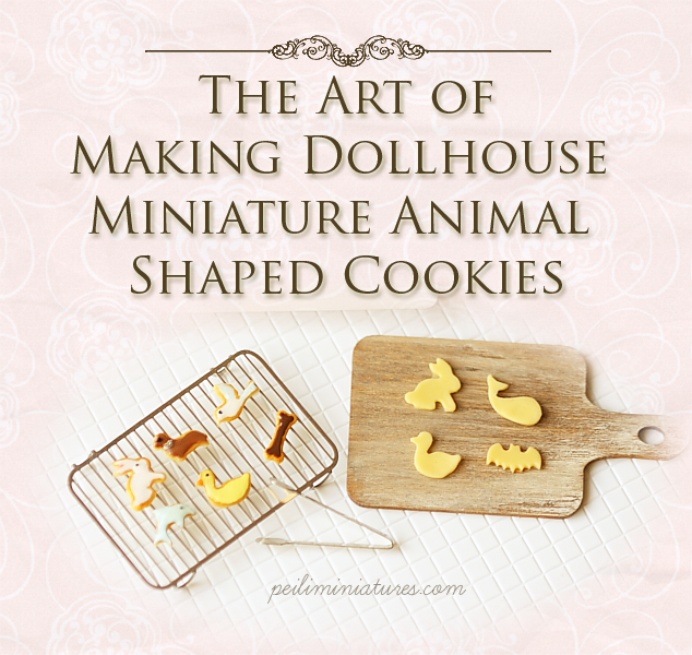 Clay Food Tutorial -The Art of Making Dollhouse Miniature Animal Shaped Cookies-clay food tutorial, how to tutorial, mini food tutorial