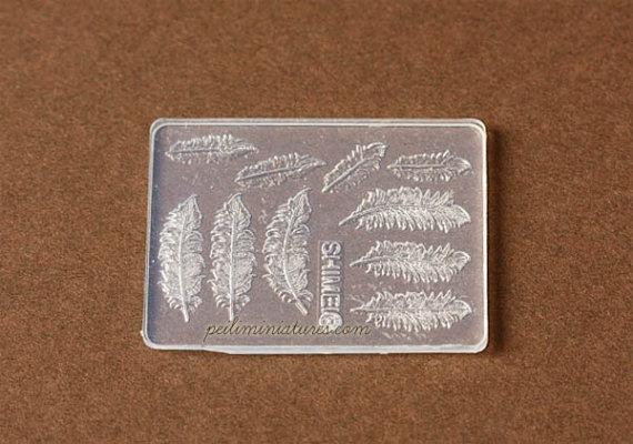 Dollhouse Miniature Feather or Leaf Mold