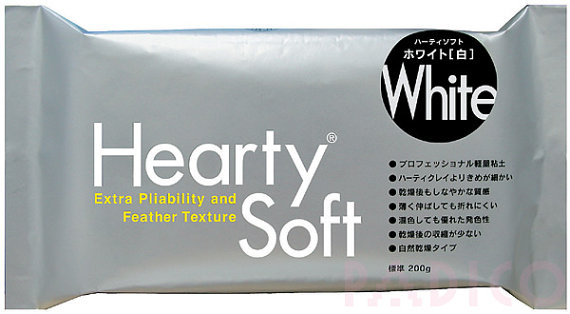 Hearty Soft 200g Modeling Air Dry Clay (White)-Hearty Soft Clay